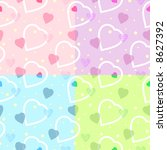 seamless heart pattern for your backgrounds / vector - stock vector