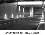 Garage Entrance   B W