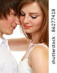 beautiful couple isolated on... | Shutterstock . vector #86277418