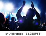crowds of people having fun on... | Shutterstock . vector #86280955