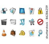 doodle social media icons | Shutterstock .eps vector #86286259