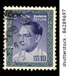 ceylon   circa 1960  a stamp... | Shutterstock . vector #86289697