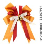 orange ribbon and bow isolated... | Shutterstock . vector #86307994