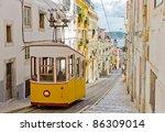 lisbon's gloria funicular...   Shutterstock . vector #86309014