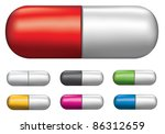 medicine pill illustrations in... | Shutterstock .eps vector #86312659
