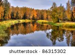 Panoramic Landscape With Forest ...