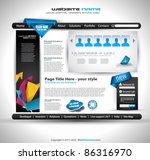 hightech website   elegant...   Shutterstock .eps vector #86316970