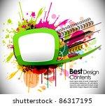 abstract modern banner theme... | Shutterstock .eps vector #86317195