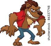 cartoon werewolf. vector...   Shutterstock .eps vector #86337748