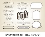 decorative calligraphic design... | Shutterstock .eps vector #86342479