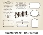 decorative calligraphic design...   Shutterstock .eps vector #86343400