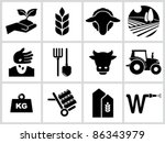 agriculture and farming icons.... | Shutterstock .eps vector #86343979