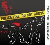 Crime Scene With Police Tape...