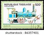 togo   circa 1996  a stamp... | Shutterstock . vector #86357401