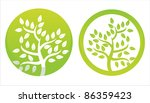 set of 2 green floral symbols | Shutterstock .eps vector #86359423