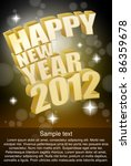new year card 2012 with place... | Shutterstock .eps vector #86359678