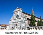 basilica of santa maria novella ... | Shutterstock . vector #86360515