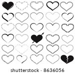 valentine objects | Shutterstock .eps vector #8636056