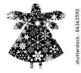 Christmas Angel Silhouette Wit...