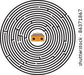 maze ellipse house   Shutterstock .eps vector #86371867