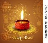 beautiful diwali diya vector... | Shutterstock .eps vector #86372407