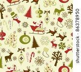 christmas seamless pattern | Shutterstock .eps vector #86378950