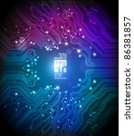 circuit board abstract colorful ... | Shutterstock .eps vector #86381857