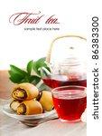 healthy fruit tea in a glass... | Shutterstock . vector #86383300