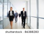 business people in modern office | Shutterstock . vector #86388283
