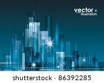 city landscape at night. | Shutterstock .eps vector #86392285