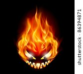 Evil Burning Halloween Symbol....