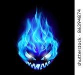 Blue Evil Burning Halloween...