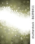 winter frame background with...   Shutterstock . vector #86398411