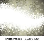 winter frame background with...   Shutterstock . vector #86398420