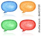 Blank Watercolor Speech Bubble...