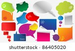 set of colorful dialog boxes...   Shutterstock .eps vector #86405020