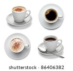 collection of various coffee... | Shutterstock . vector #86406382