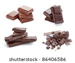 collection of various chocolate ... | Shutterstock . vector #86406586
