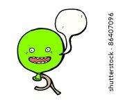 cartoon happy floating balloon | Shutterstock .eps vector #86407096