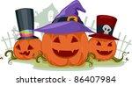 illustration of jack o lanterns ... | Shutterstock .eps vector #86407984