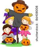 illustration of kids posing... | Shutterstock .eps vector #86408008