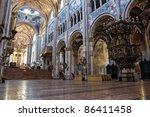 interior cathedral. parma.... | Shutterstock . vector #86411458