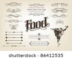 decorative calligraphic design... | Shutterstock .eps vector #86412535