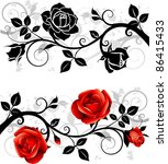 Stock vector ornament with roses 86415433