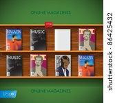 online magazines vector image 10