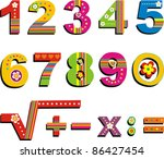 colorful numbers set isolated... | Shutterstock .eps vector #86427454