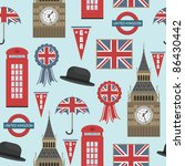 seamless pattern with united... | Shutterstock .eps vector #86430442