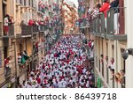 Pamplona July 8 Bull Running In ...
