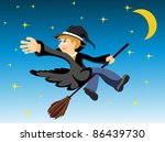 halloween image of a young... | Shutterstock .eps vector #86439730