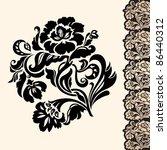 flower and border  design... | Shutterstock . vector #86440312